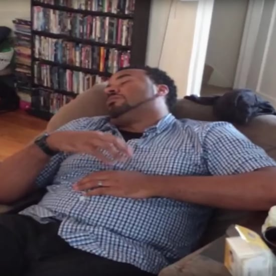 Dad Soothing Crying Baby in His Sleep