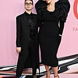 Posing with designer Christian Siriano.