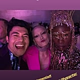 Henry Golding Took a Selfie With Pom Klementieff and Billy Porter