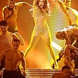 Jennifer Lopez hit the stage in 2011.