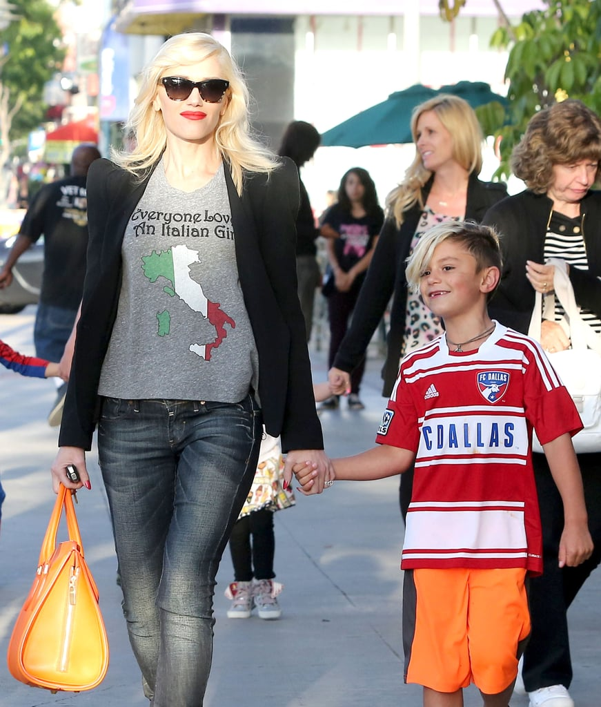 Gwen Stefani took her son Kingston out to dinner in LA.