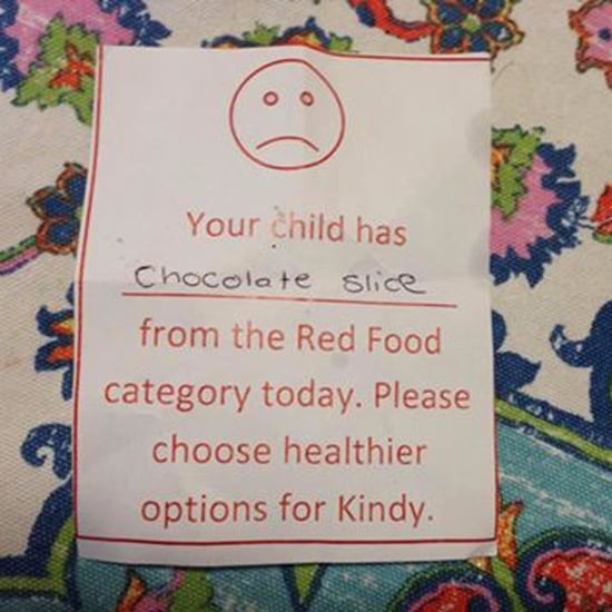 Preschool Sends Mom Note For Packing Chocolate in Lunch