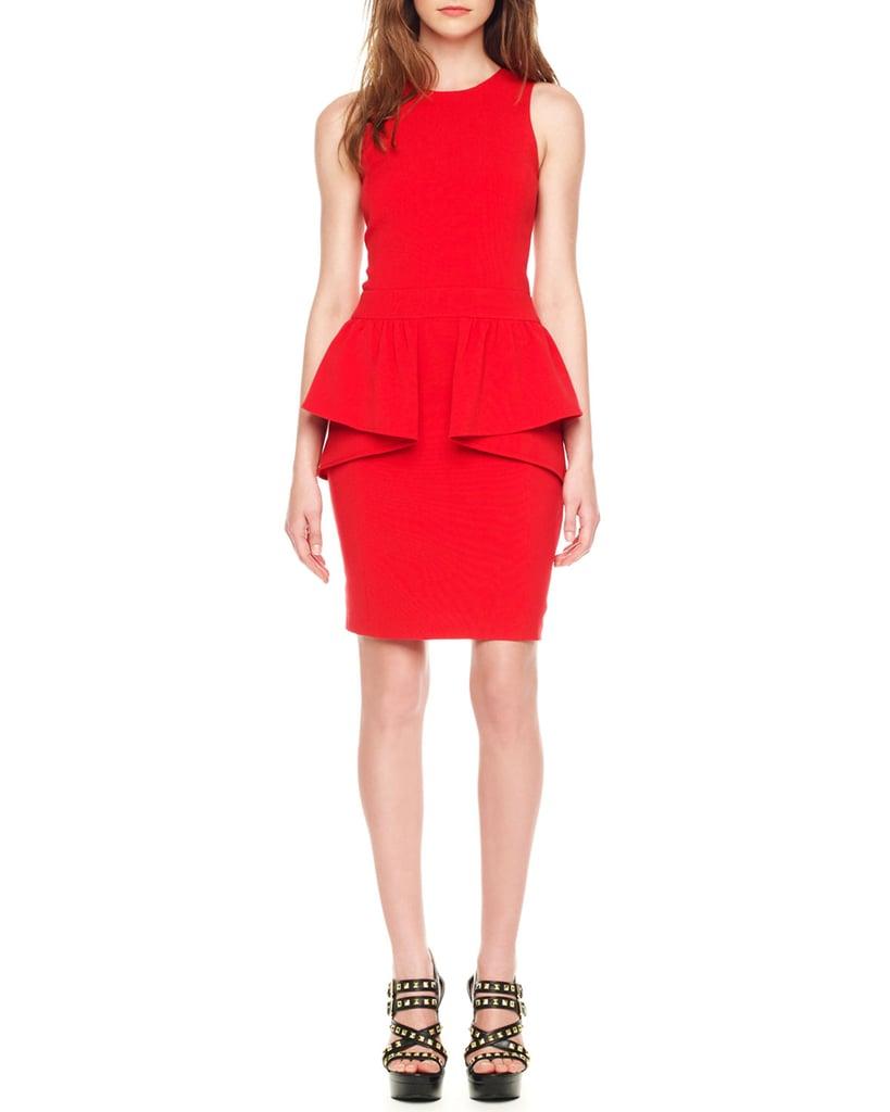 Michael Michael Kors Red Peplum Dress