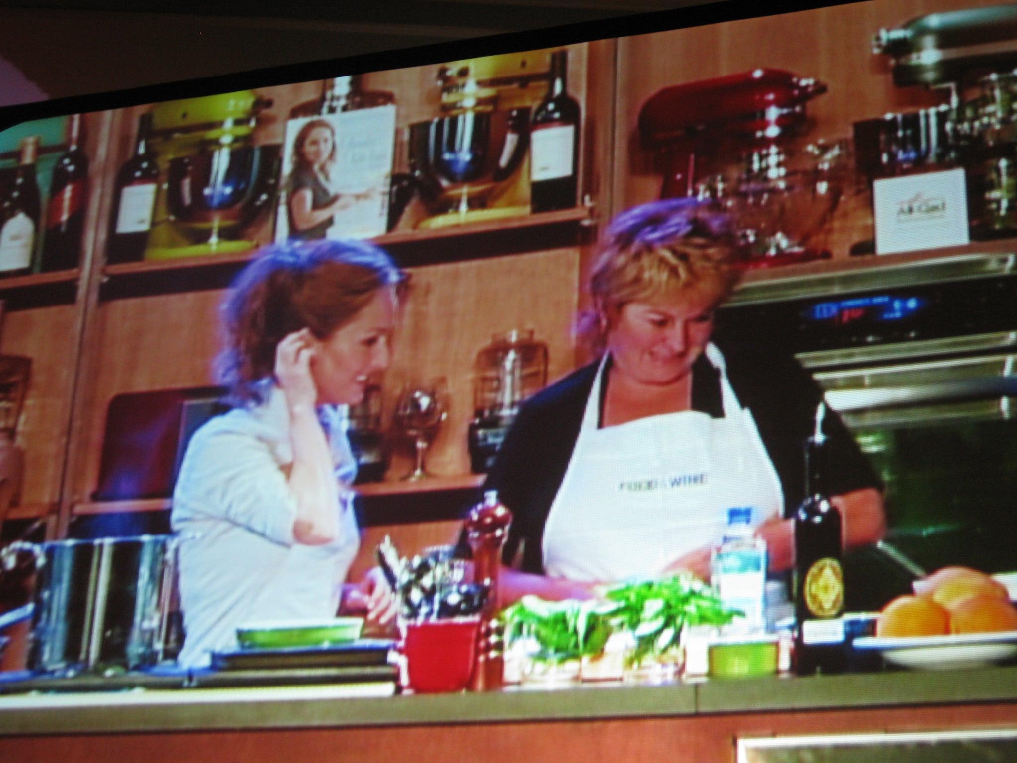 Giada and her aunt Raffi making fergola.