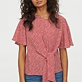 H&M Blouse With Tie Detail