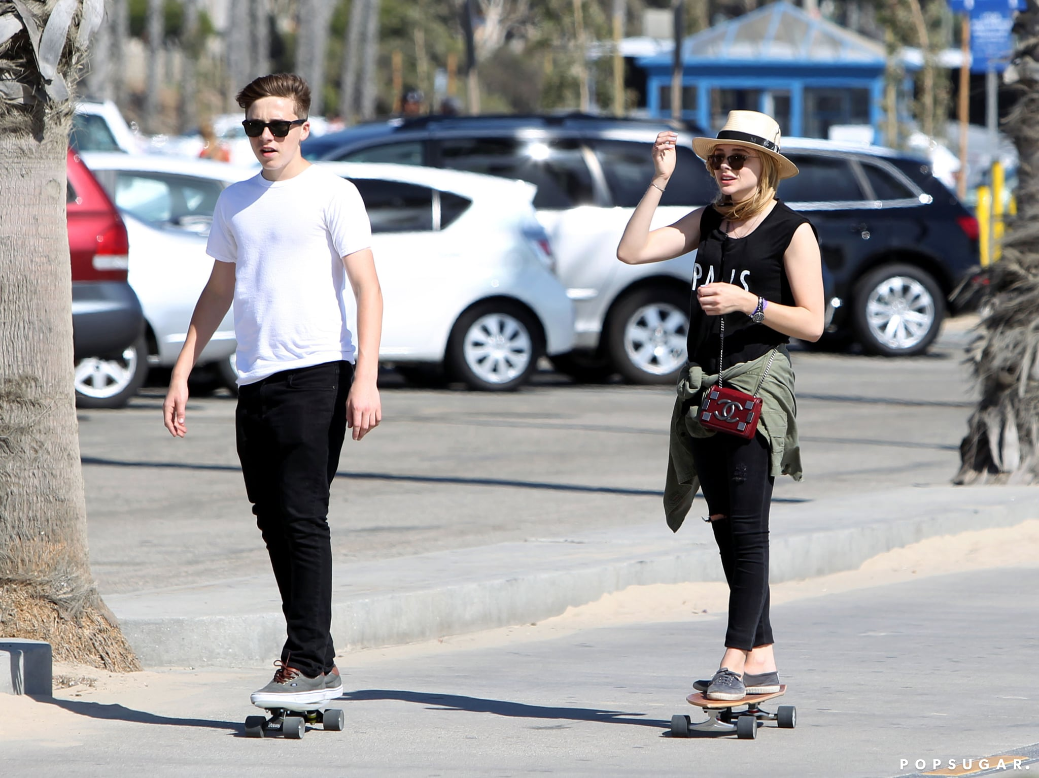 Chloë Moretz and Brooklyn Beckham Have a Truly Adorable Skate Date