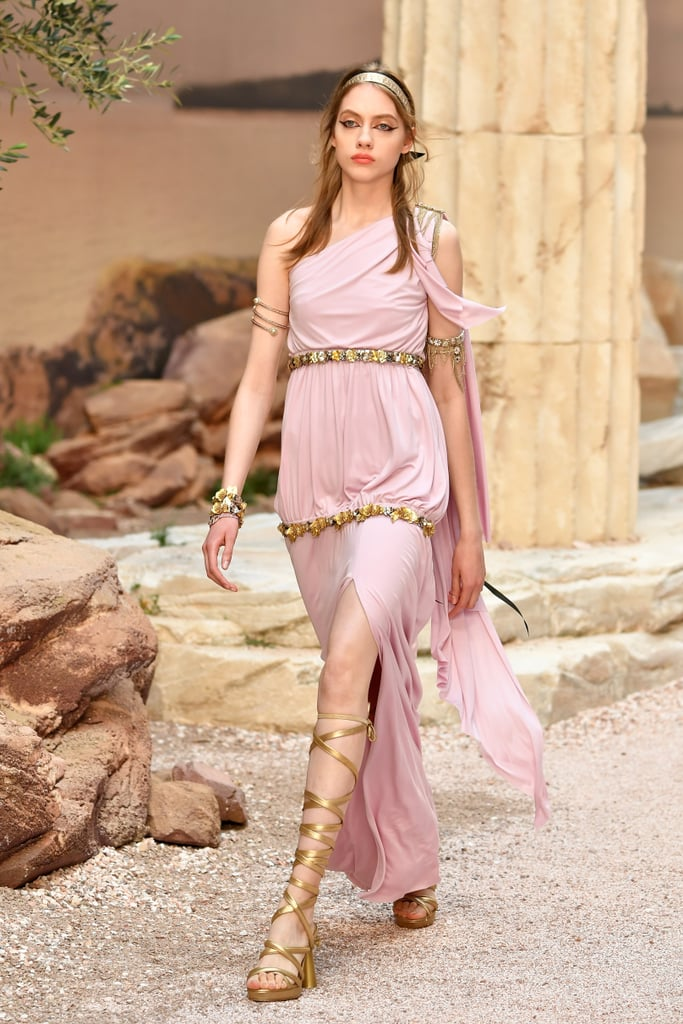 There Was This Pretty Grecian-Inspired Pastel Pink Dress