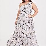 Torrid Floral Chiffon One-Shoulder Dress