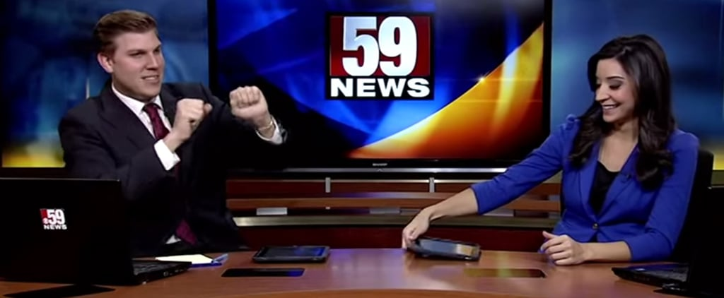 """News Anchor Dancing to TI's """"Where They at Doe"""" 