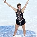Ashley smiled on the ice.
