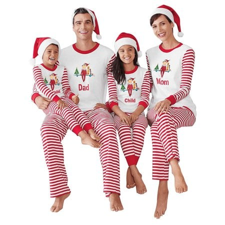 d52266708f ZXZY Christmas Children Adult Family Matching Family Pajamas