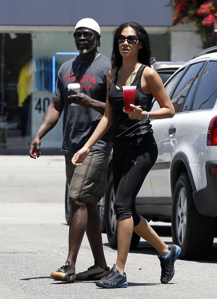 Djimon Hounsou and Kimora Lee Simmons spent the afternoon together in LA.