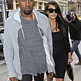 Kim Kardashian and Kanye West Shopping in NYC | Pictures