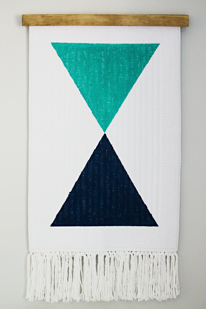 Turning a simple bath mat into a cool wall hanging is actually easier than you'd think.