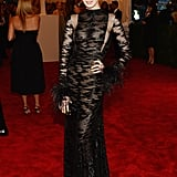 Anne Hathaway at the Met Gala 2013.