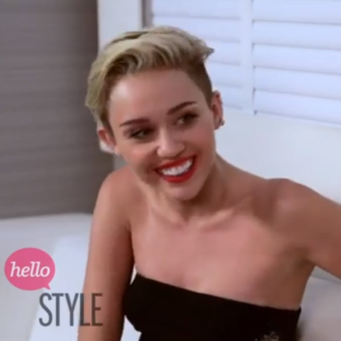 Celebrity Beauty Interview Miley Cyrus Short Hair Grills