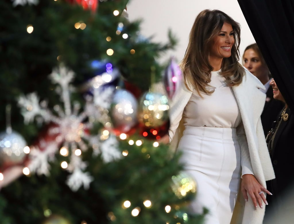 Even Santa Claus Can't Keep His Eyes Off of Melania Trump's Snakeskin Heels