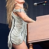 Grace Potter of Grace Potter and the Nocturnals hit the stage in a slinky fringes minidress.