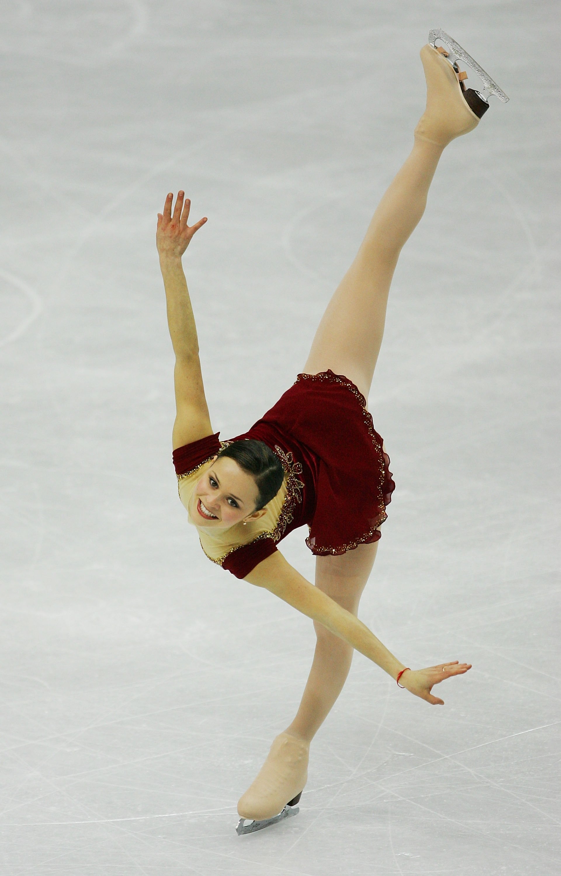 TURIN, ITALY - FEBRUARY 23:  Sasha Cohen of the United States performs during the women's Free Skating program of figure skating during Day 13 of the Turin 2006 Winter Olympic Games on February 23, 2006 at Palavela in Turin, Italy.  (Photo by Al Bello/Getty Images)