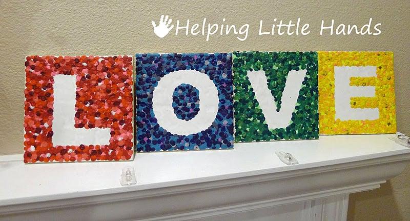 Crayon LOVE Letter Tiles