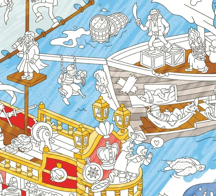 Omy Maison Giant Coloring Poster