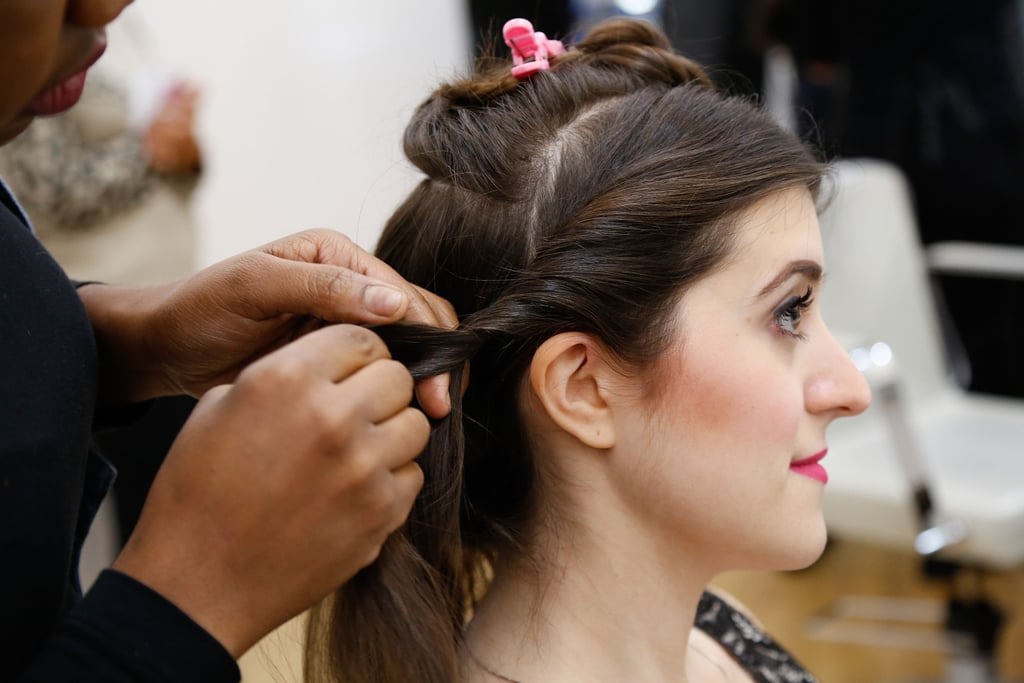 Twist Each Side Section Up And Back Date Night Updo Hair How To