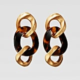 Zara Campaign Collection Tortoiseshell Link Earrings