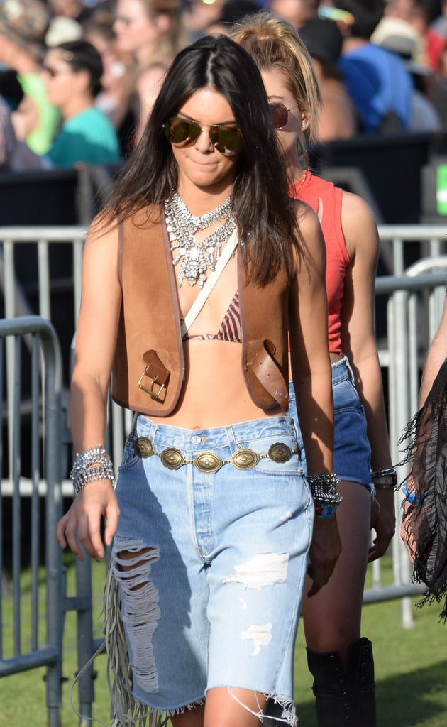 Are concho styles back? The model was seen wearing one at Coachella in April.