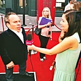 I interviewed Warwick Davis, who plays the goblin Griphook and Professor Flitwick. Warwick also had his family (not pictured) by his side at the event.