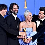 Pictured: Anthony Rossomando, Andrew Wyatt, Lady Gaga, and Mark Ronson