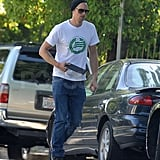 Alexander Has His iPad in Hand as He Leaves a Lunch Date With Kate