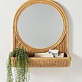 Hazel Round Rattan Mirror