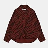 Zara Animal Print Oversize Jacket