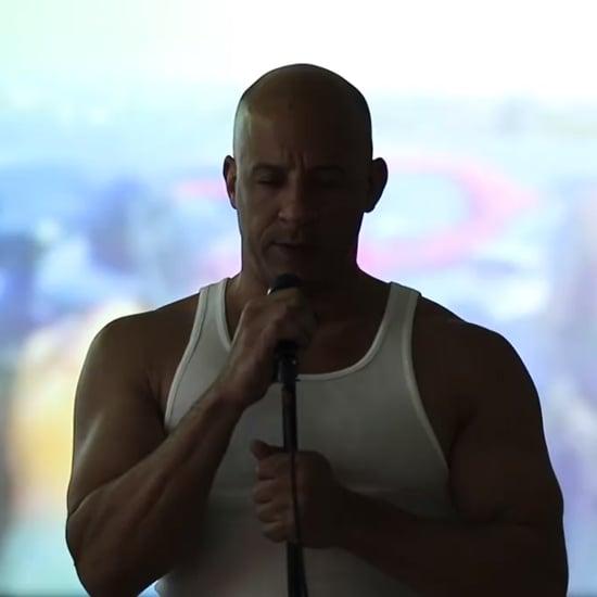 """Vin Diesel Sings """"Habits (Stay High)"""" For Paul Walker"""