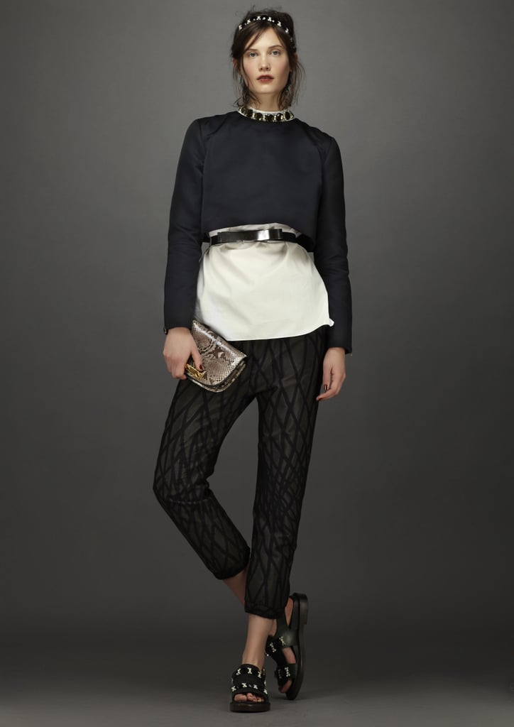 The cropped proportions of this ensemble are effortlessly cool. Source: Marni