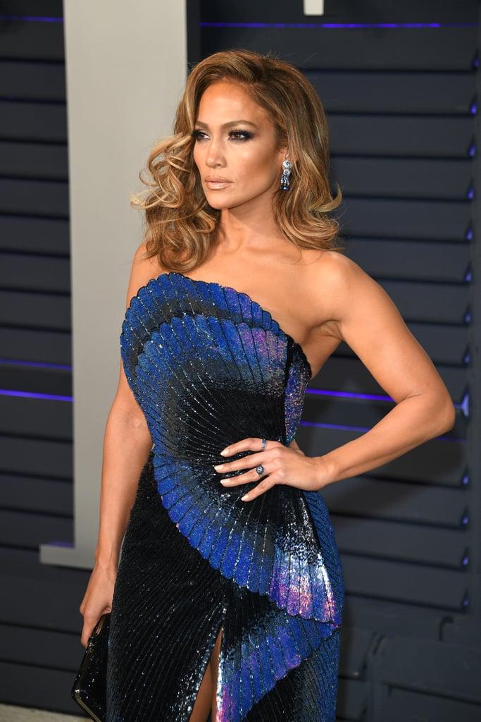 Jennifer Lopez's Side-Swept Waves in 2019