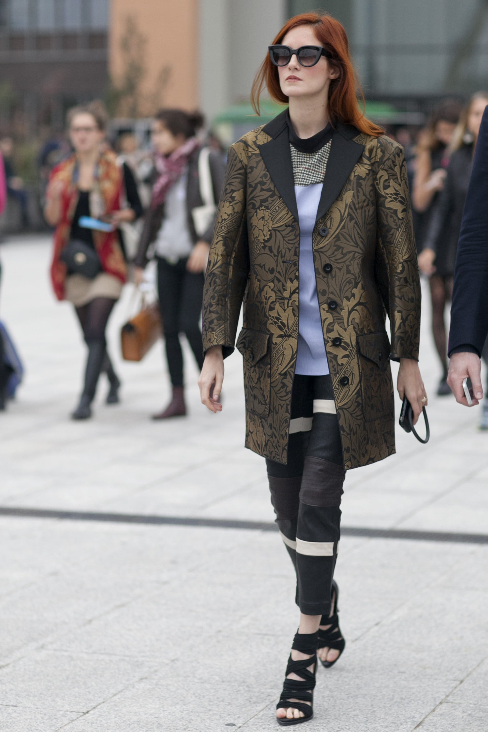 Taylor Tomasi Hill mixed and matched like the pro she is.