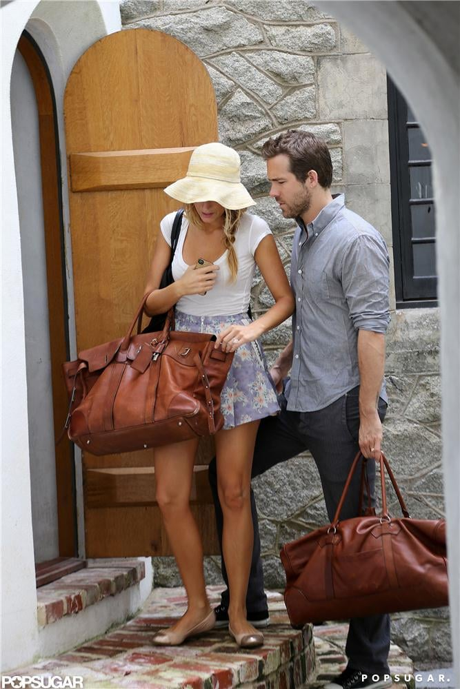 Blake Lively and Ryan Reynolds carried matching Hermes bags. Source: Alex Gutierrez