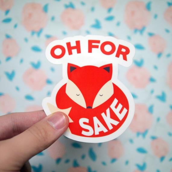 Oh For Fox Sake Stickers