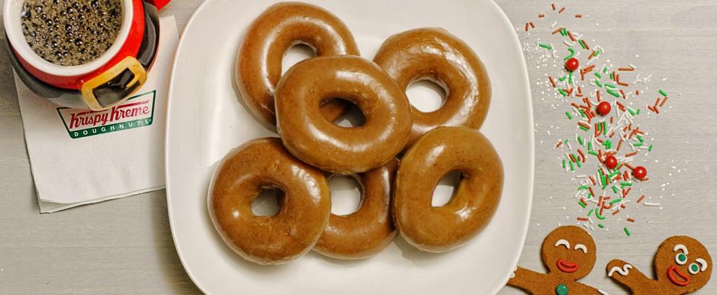 Krispy Kreme Gingerbread Doughnuts December 2018