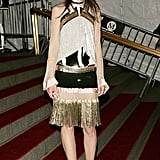Charlotte Gainsbourg made a gilded (and fringed) statement at the 2007 Met Gala.