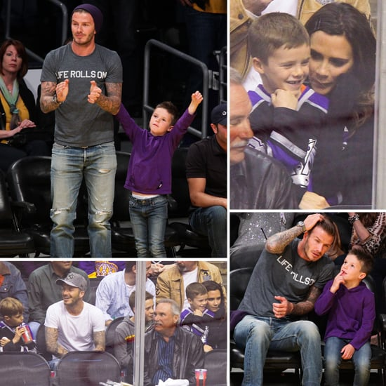 David and Victoria Beckham Pictures at Sporting Events