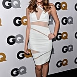 Revenge girl Christa B. Allen donned a sheer white Catherine Malandrino dress with Nicholas Kirkwood pumps at the GQ Men of the Year party.