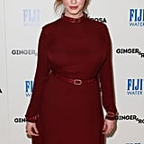 Christina Hendricks belted her dress.