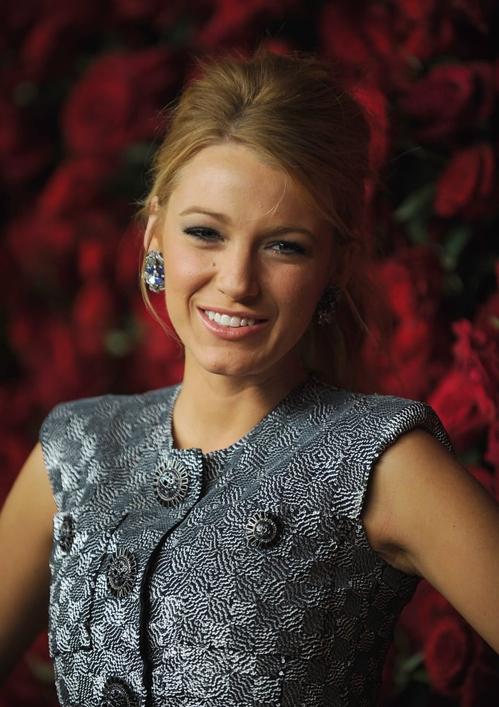 Blake Lively wore statement earrings.