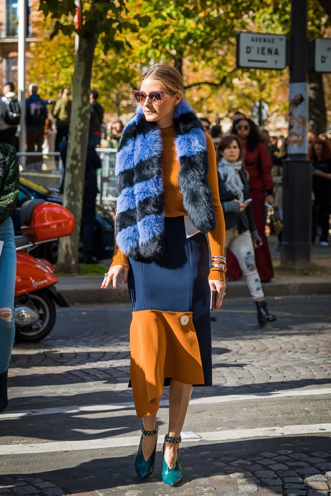 Wear a Big Furry Striped Scarf — Even in Early Fall