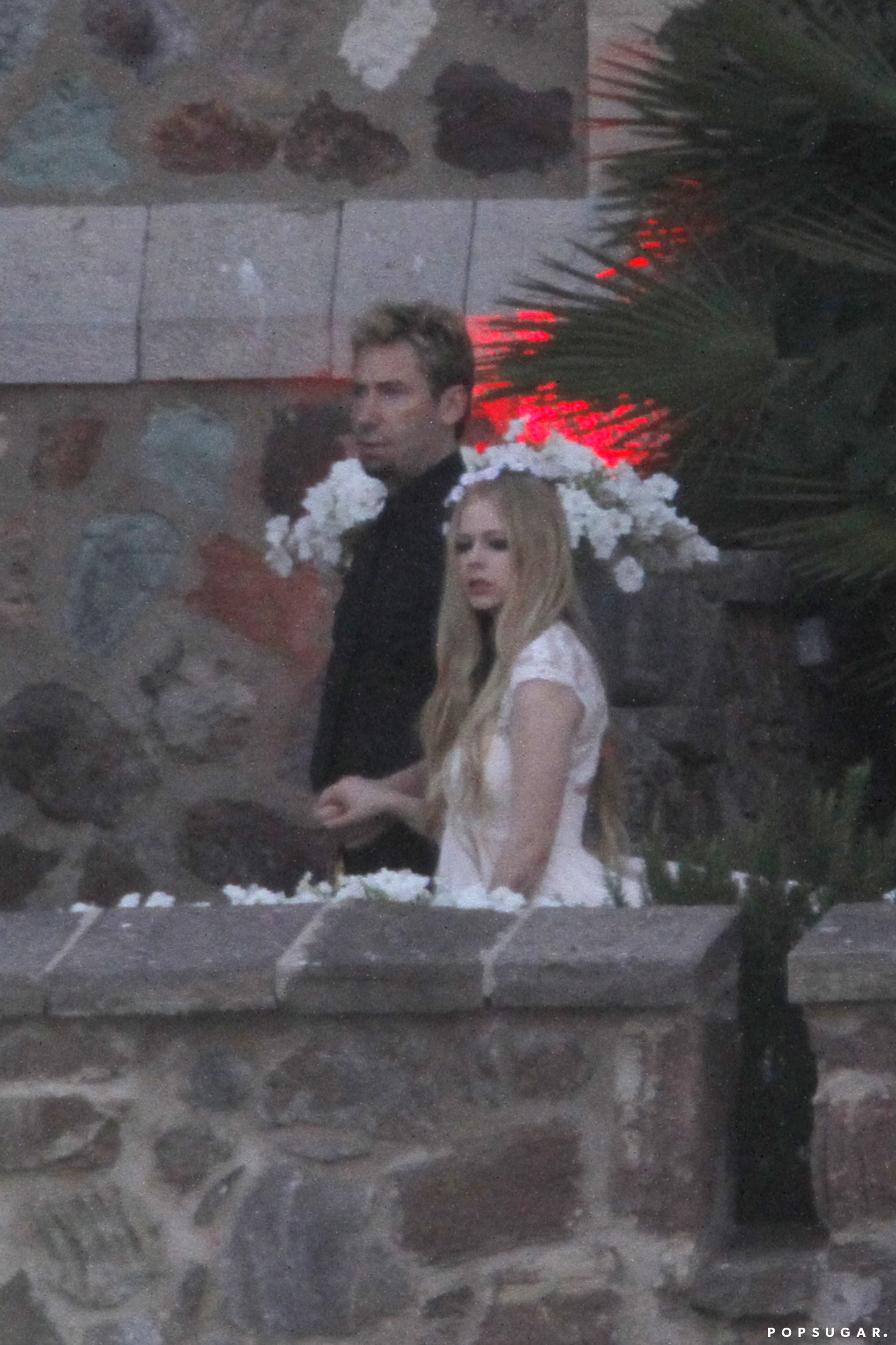 Avril Lavigne And Chad Kroeger Dressed Up For Their Wedding Rehearsal