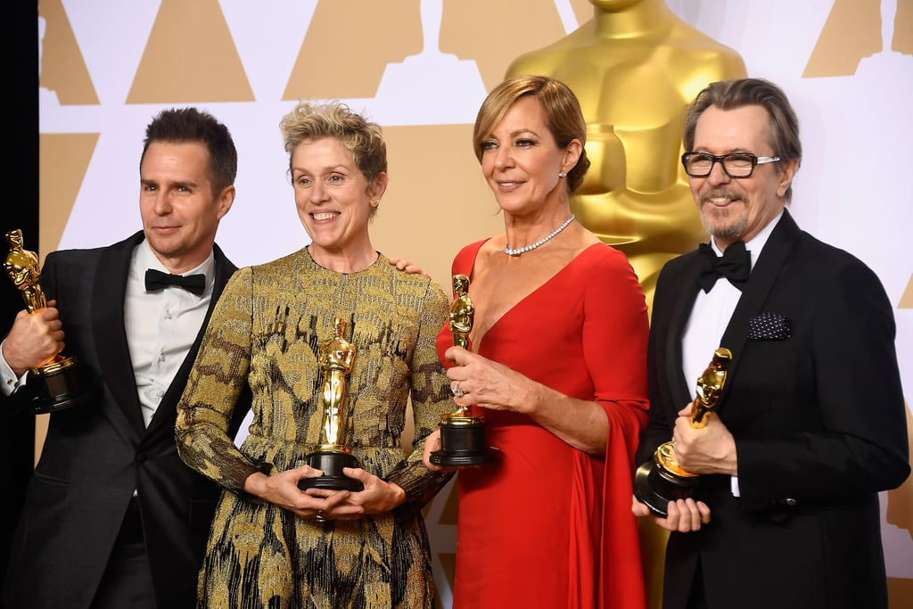 Pictured: Sam Rockwell, Frances McDormand, Allison Janney, and Gary Oldman
