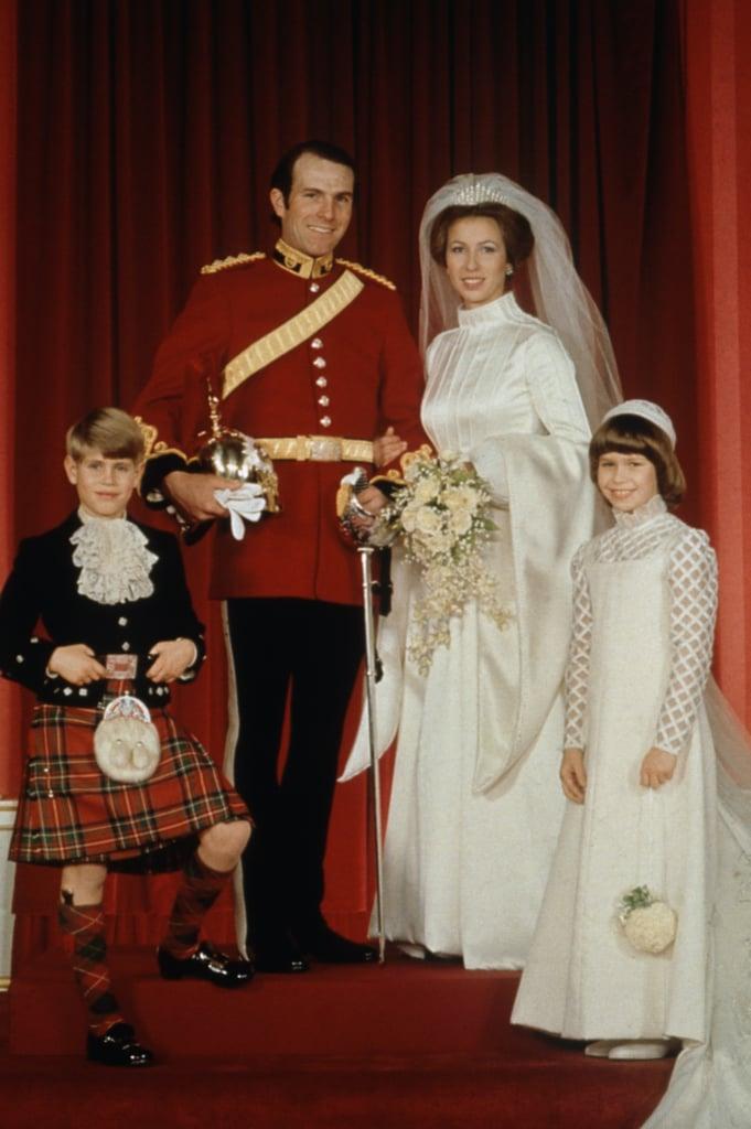 Princess Anne, 1973 | Royal Wedding Dresses Through the Ages ...