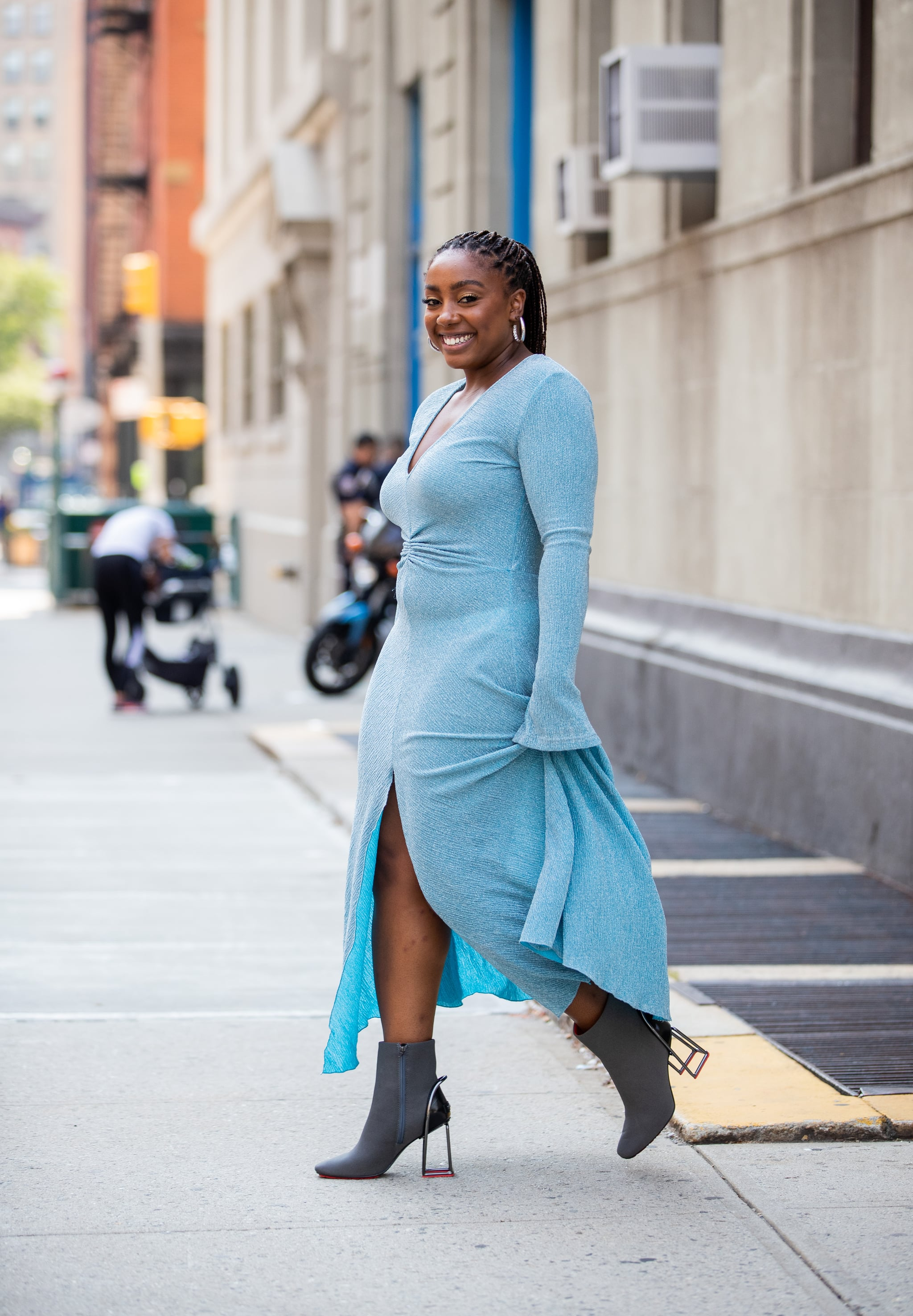 long sleeve dress with booties